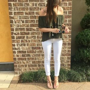 ARTICLES OF SOCIETY White Skinny Jeans: 26